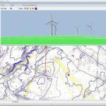 Model 3D farmy wiatrowej